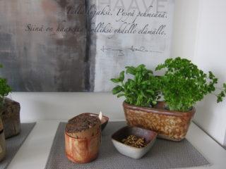 Kaikki Leena Juvosen astiat ovat hyvin monikäyttöisiä, Ja kauniita myös ihan sellaisinaan!